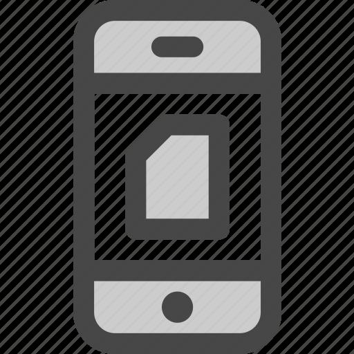 data, document, file, mobile, phone, sim, storage icon