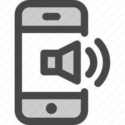audio, internet, mobile, music, phone, sound, speaker icon