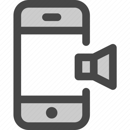 mobile, music, mute, phone, sound, speaker icon