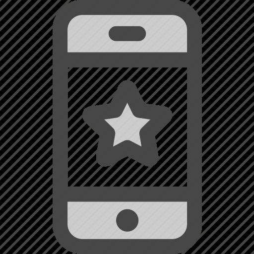 device, favorite, internet, mobile, phone, star, website icon