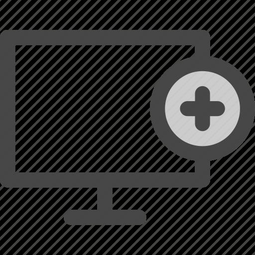 add, computer, internet, new, online, screen icon