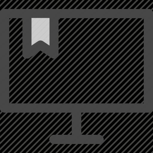 bookmark, computer, favorite, internet, note, ribbon, screen icon