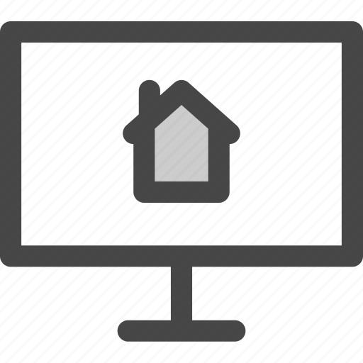 computer, home, homepage, internet, online, screen, website icon