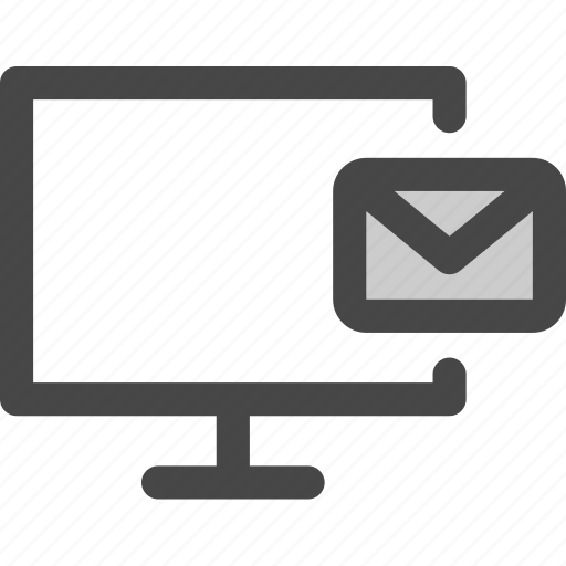 computer, email, envelope, message, online, screen icon