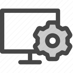 adjustments, computer, gear, preferences, screen, settings icon