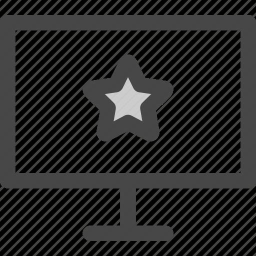 computer, favorite, internet, screen, star, website icon