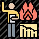 assessment, burndown, chart, complete, work