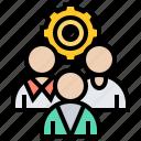 development, organize, professional, scrum, team icon
