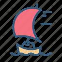 boat, sea, ship, travel icon