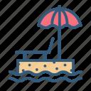 beach, holiday, sea, summer icon