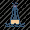 buoy, float, navigation, sea icon