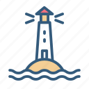 lighthouse, navigation, sea, tower icon