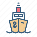 boat, ship, shipping, transport icon