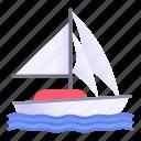 boat, sail, sailboat, sailing, sea, transportation, travel