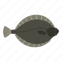 animal, fish, flatfish, flounder, food, fresh, seafood icon