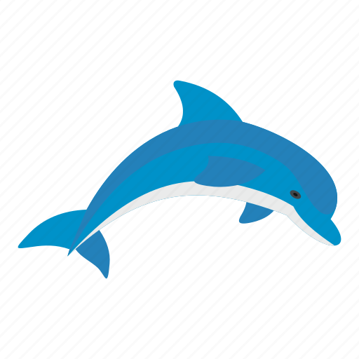 animal, blue, dolphin, fish, mammal, nature, ocean icon