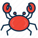 crab, food, ocean, sea, sea food icon