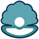 food, oyster, pearl, restaurant, sea food, sea shell icon