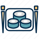 chop, eat, food, seafood, stick, sushi icon