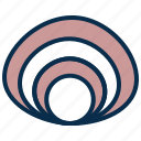 food, oyster, pearl, sea, shell icon