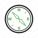 compass, direction, directions, equipment, measure, navigate, point, tool icon