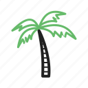 beach, coconut, island, maldives, palm, sea, tree icon