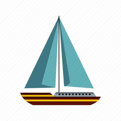 boat, ocean, sails, sea, ship, yacht, yachting icon