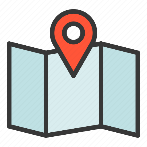 location, map, position, way icon