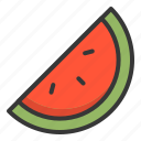 fruit, sea, slice, summer, watermelon icon