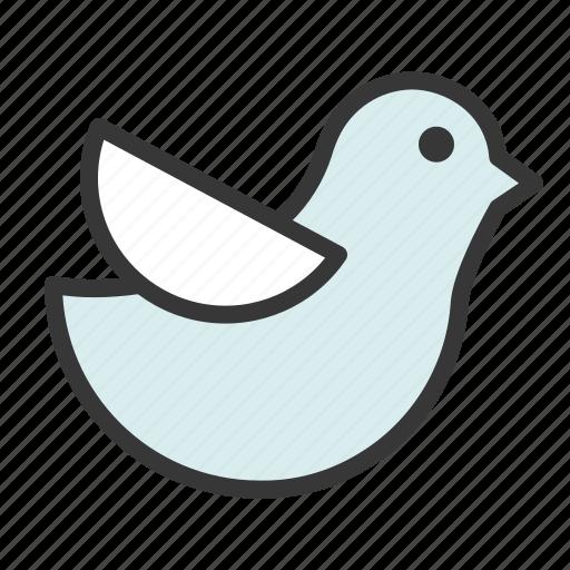 bird, fly, pool float, sea icon