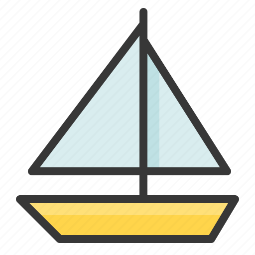 boat, sailboat, sea, ship, travel icon