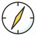 compass, direction, location, travel icon