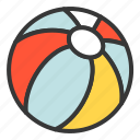 ball, beach, beachball, game, play icon