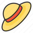 bleach, headgear, headwear, strawhat, summer, sun, sunhat icon