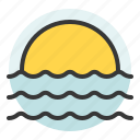 bleach, sea, summer, sun, sunset icon