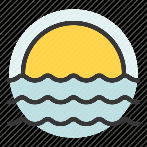 bleach, sea, summer, sun, sunset icon