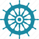 driving, helm, ocean, sea, wheel icon
