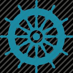 driving, helm, ocean, sea, wheel icon