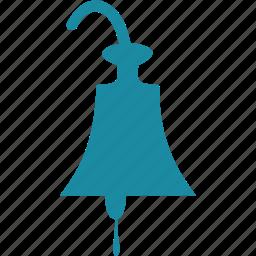 bell, ocean, sea, ship icon