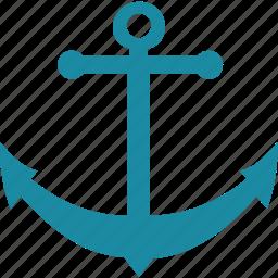 anchor, ocean, sea, ship icon