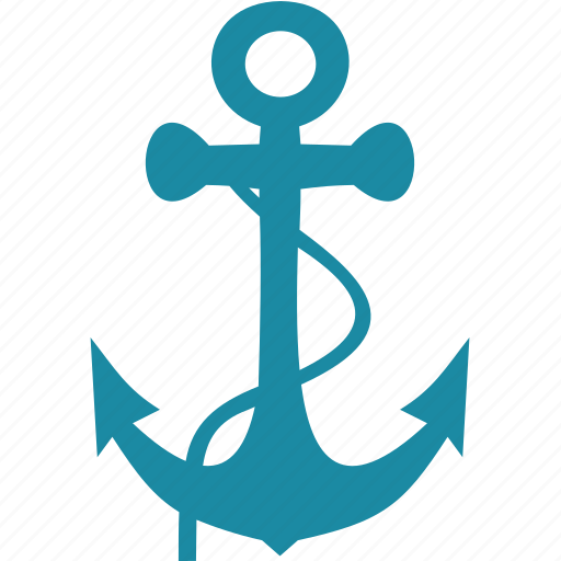 anchor, boat, ocean, sea, ship icon