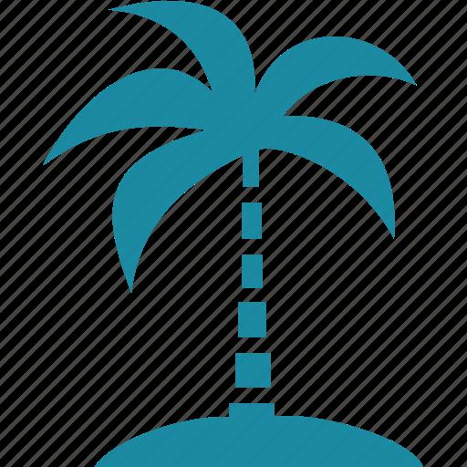 ocean, palm, plant, sea, tree icon