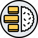 eat, fish, food, potato, restaurant, seafood, stick icon