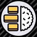 eat, fish, food, potato, restaurant, seafood, stick icon