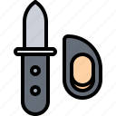 eat, food, knife, mussel, restaurant, seafood icon
