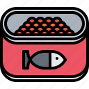 canned, caviar, eat, food, jar, restaurant, seafood