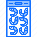 eat, food, package, restaurant, seafood, shrimp icon