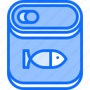 canned, eat, fish, food, restaurant, seafood icon