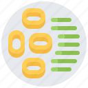 bean, eat, food, restaurant, ring, seafood, squid icon