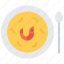 eat, food, plate, restaurant, seafood, shrimp, soup icon